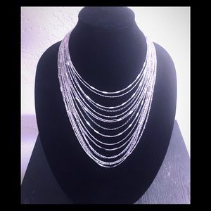Chloe + Isabel Multi-Strand Chain Bib Necklace